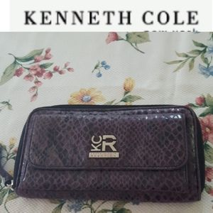 Kenneth Cole faux snakeskin wallet